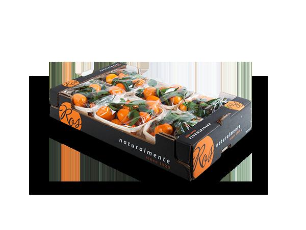 Clementinas con hoja 60x40x11cm – 6 flowpack x 1000 gr