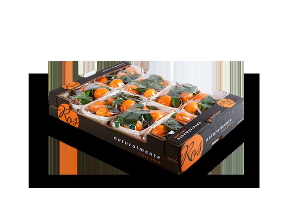 Clementinas con hoja 60x40x11cm – 8 flowpack x 800 gr