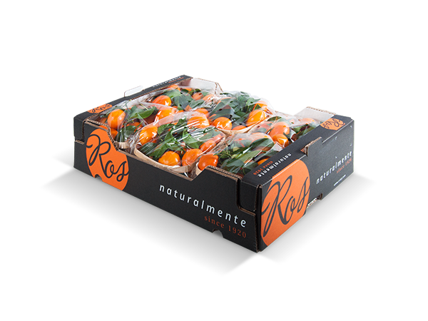 Clementines with leaf 60x40x14cm – 6 flowpack x 1500 gr