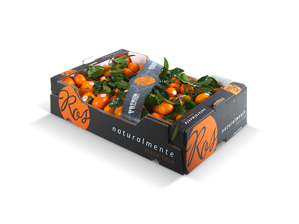Clementinas con hoja granel 60x40x14 cm – 12kg